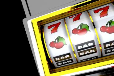 One Handed Bandit Slot Machine 3D Render PNG
