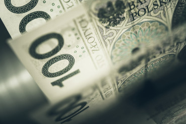 One Hundred Polish Zloty Banknotes Closeup Photo