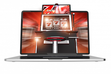 Online Casino Gambling PNG Concept Illustration