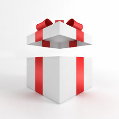 Open Gift Box 3D Render