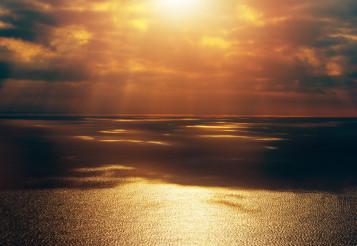 Open Sea Sunset Scenery