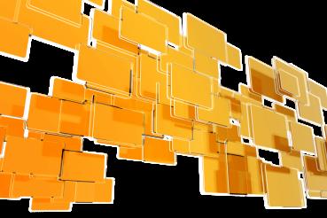 Orange Blocks Design