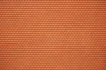 Orange Ceramic Roof Tiles Background