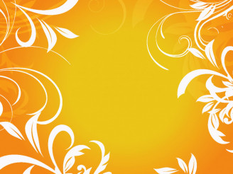 Orange Ornaments Floral Vector Background