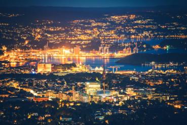 Oslo Norway at Night