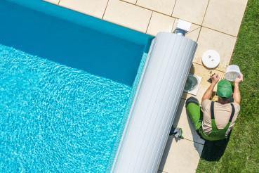 Outdoor Backyard Garden Swimming Pool Maintenance.