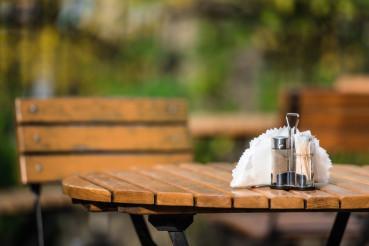 Outdoor Diner Wooden Bench
