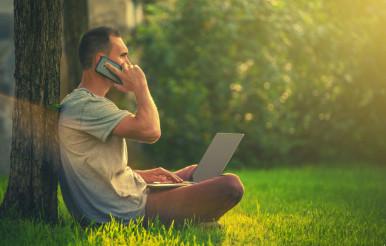 Outdoor Office Worker