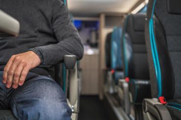 Passenger Seating Inside Coach Bus