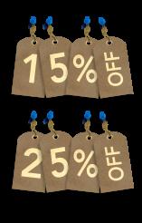 Percent Paper Tags Sale Discount Concept PNG
