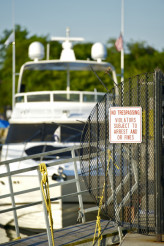 Pier-No Trespassing