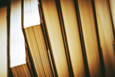 Pile of Books Closeup