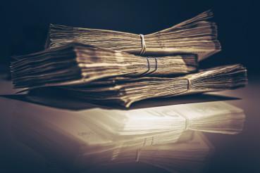 Pile of Cash Money