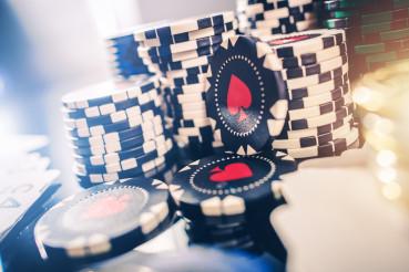 Pile of Casino Gambling Poker Chips