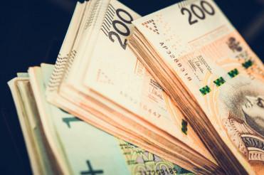 Pile of Polish Zloty Banknotes