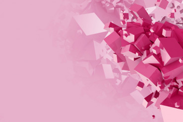Pink Cubes Abstract Background