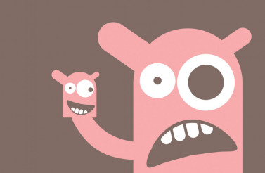 Pinky Monster Funny Vector Character