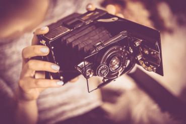 Playing Vintage Camera