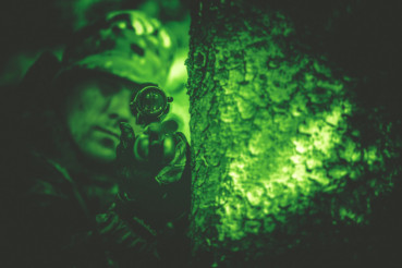 Poacher in Night Vision