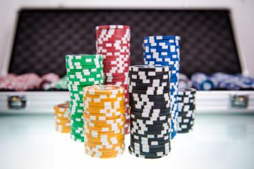 Poker Chips Piles