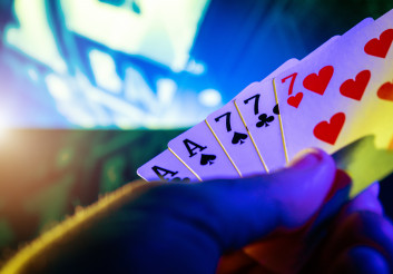 Poker Game Cards in Players Hand
