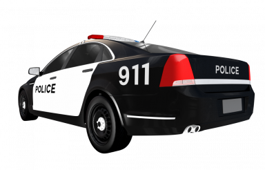 Police Car Rear View PNG