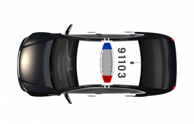 Police Car Top View