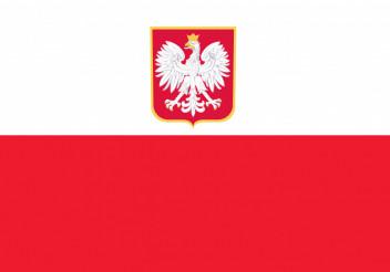Polish Flag Flat Illustration