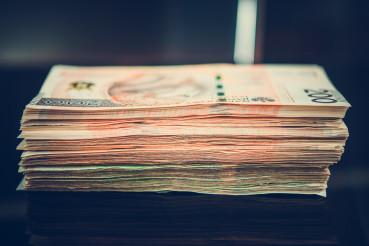 Polish Zloty Banknotes Pile