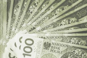 Polish Zloty Cash Background