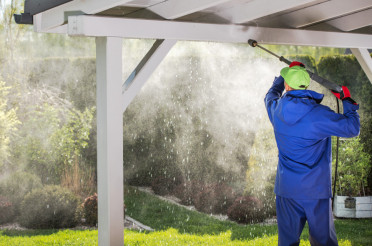Porch Roof Power Cleaning