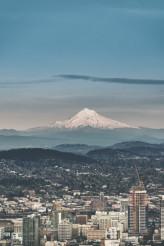 Portland Cityscape with Mt Hood