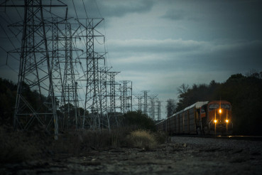 Power Lines and the Railroad