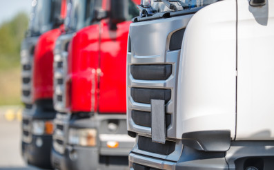 Pre Owned Semi Truck Tractors in a Row