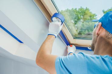 Preparing Room Window Edges For Painting Job