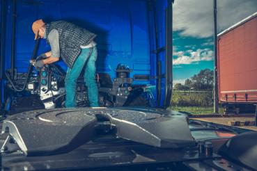 Preparing Semi Truck