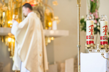 Priest During Eucharist