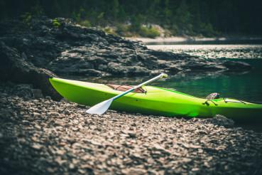 Pro Kayak on the Lake Shore