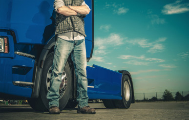 Proud Caucasian Trucker
