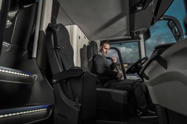 Public Transport Bus Driver Fastening Seat Belt