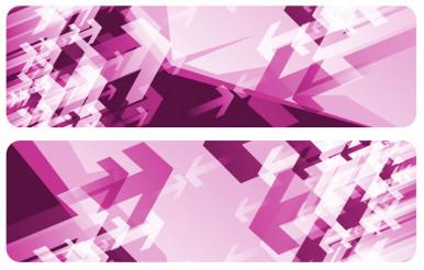 Purple Arrow Banners