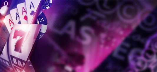 Purple Casino Banner Concept