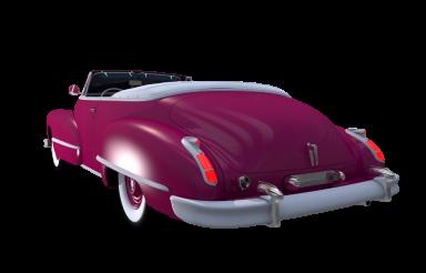 Purple Oldtimer Car PNG