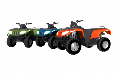 Quad Bikes Rental Isolated