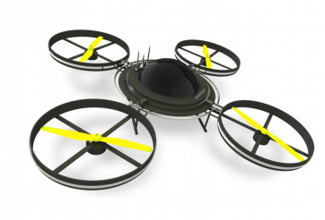 Quadcopter Drone Isolated