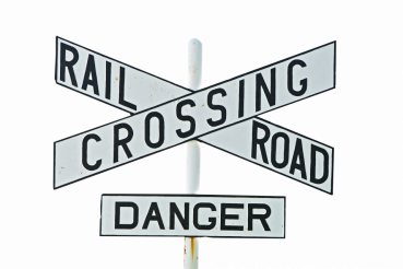 Railroad Crossing Sign PNG