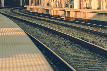 Railroad Platform and Tracks