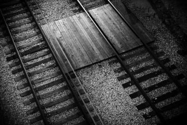 Railroad Tracks Closeup