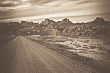 Raw Badlands Landscape