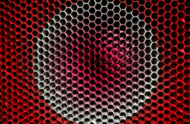 Red Abstract Mesh